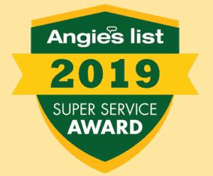Angie's List 2019 Super Service Award Badge