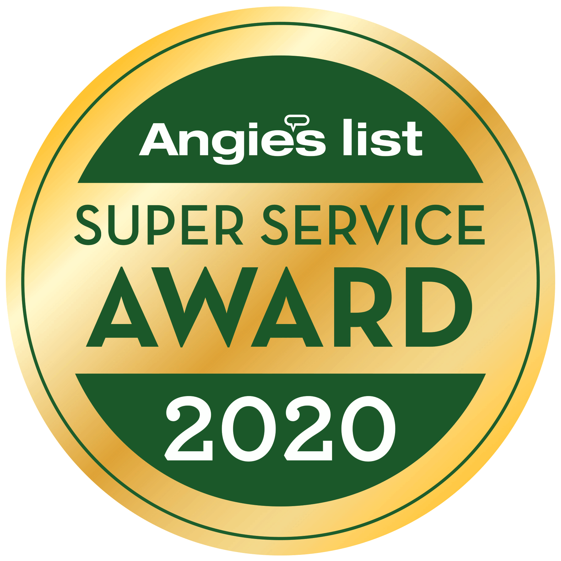 Angie's List 2020 Super Service Award Badge