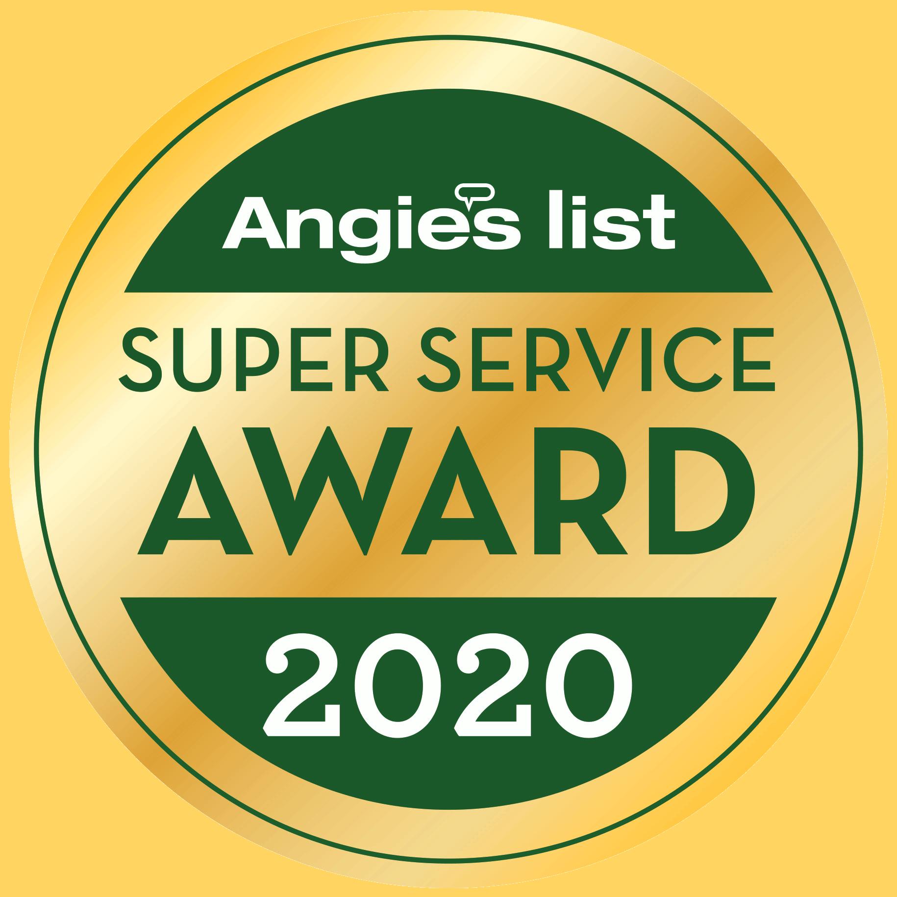 Angie's List 2020 Super Service Award Badge